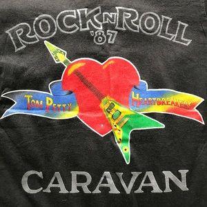 RARE 80s Vintage Tom Petty 87 Caravan Tour Shirt M